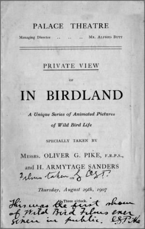 In Birdland Flyer 1907